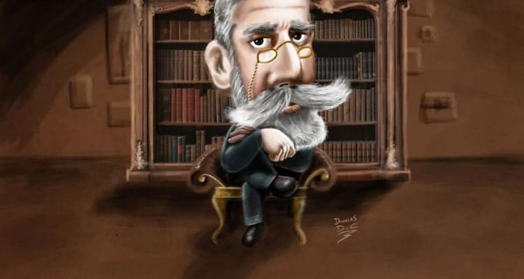 Desenho/Caricatura de Machado de Assis