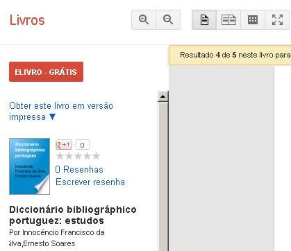 Botão para download direto, a partir da página do Google Books