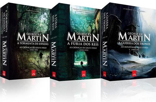 3 primeiros livros de Crônicas de Gelo e Fogo