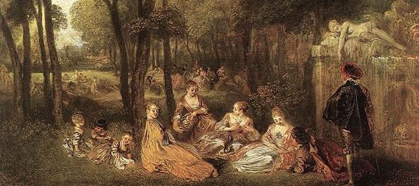 Arcadismo no Brasil - Os campos elíseos, de Antoine Watteau
