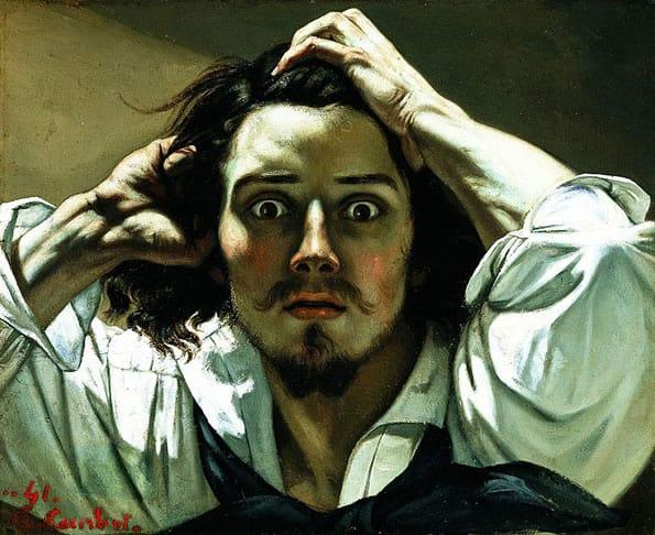 Pintura do Realismo: Gustave Courbet - Le Désespéré