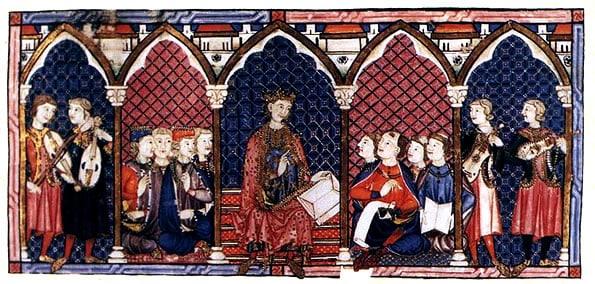 Ilustração das Cantigas de Santa Maria, do século XIII
