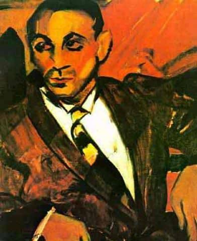 Homem amarelo, de Anita Malfatti