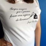 Camiseta com estampa literária - Jorge Luis Borges