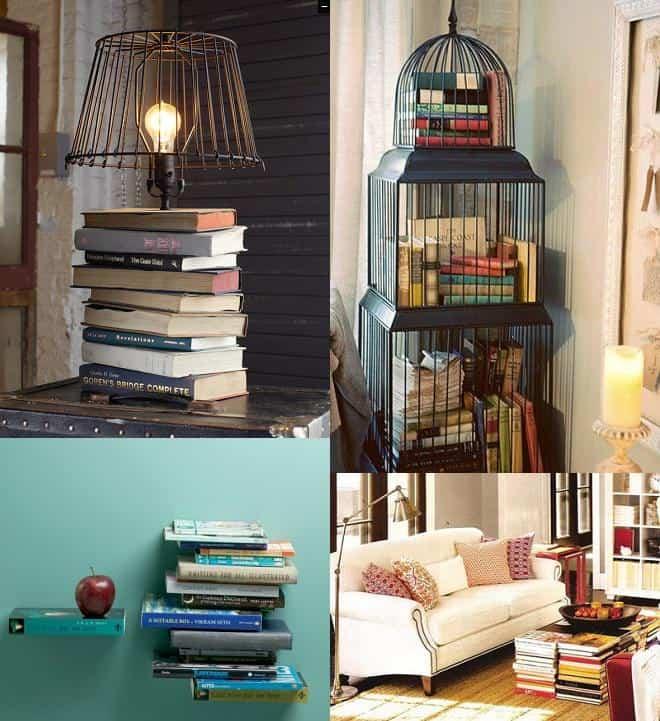 Decoração através de livros: empilhando fica bonito!