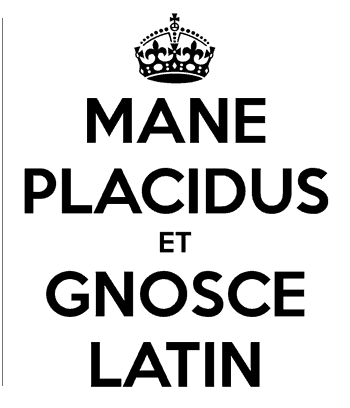 Mantenha a calma e aprenda latim